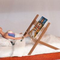 Frida a letto, dettaglio