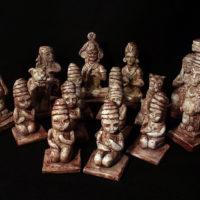 Scacchi Maya contro Aztechi, particolari